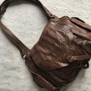 Jerome Dreyfuss Bob Python Snake Leather Hobo Bag